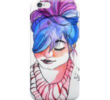 new fancy style girl iPhone Case/Skin