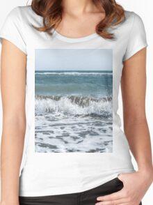 Scream Beach days  Women's Fitted Scoop T-Shirt