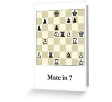 Chess Puzzle - Mate in 7 Greeting Card