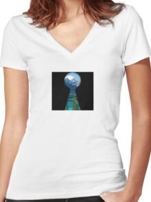 take a peek Women's Fitted V-Neck T-Shirt
