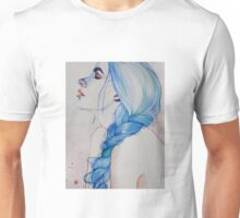 blue haired girl #2 Unisex T-Shirt
