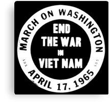 March Against the Vietnam War Canvas Print