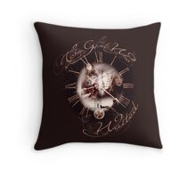 The Girl Who Waited Clock Throw Pillow