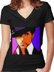 prince Women's Fitted V-Neck T-Shirt