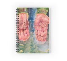 Bruised Hand Spiral Notebook