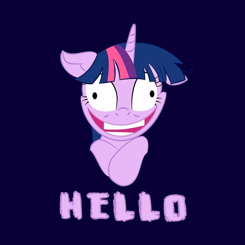 My Little Pony Twilight Sparkle Says Hello Throw Pillows