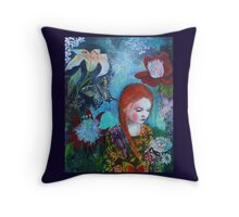 Botanical wonderland Throw Pillow