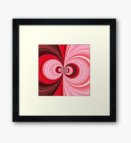 Pink, Black, & White Abstract Floral Framed Print
