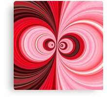 Pink, Black, & White Abstract Floral Canvas Print