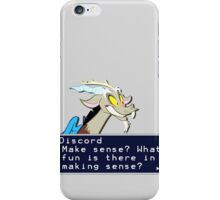 My Little Pony Discord Quote Shirt 2 iPhone Case/Skin