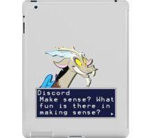 My Little Pony Discord Quote Shirt 2 iPad Case/Skin