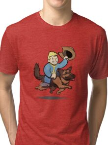 Vault boy and Dogmeat Tri-blend T-Shirt
