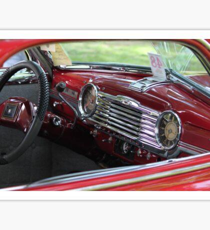 The dash of a 1948 Chevrolet Fleetmaster 2 door Sedan Sticker