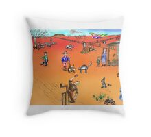 The Visitor from the Big Smoke Throw Pillow