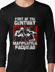 Manny Pacquiao T-shirts - FIGHT OF THE CENTURY Long Sleeve T-Shirt