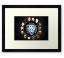 D&D D20 Races Framed Print