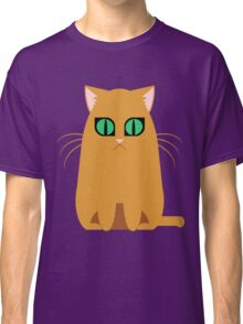 Orange Graphic Kitty Classic T-Shirt