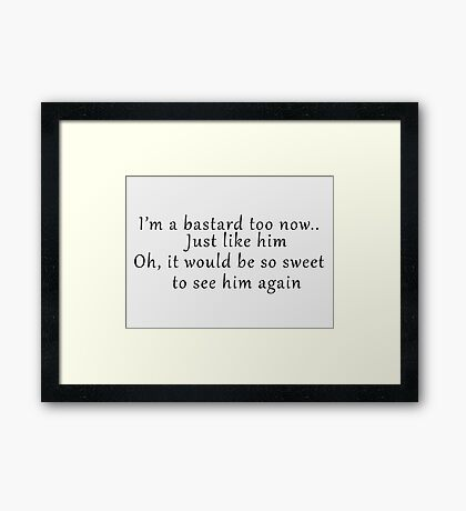 See him again  Framed Print