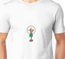 Hula Girl with Steelers Unisex T-Shirt