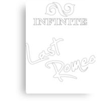 """Infinite - Last Romeo """"white"""" Canvas Print"""