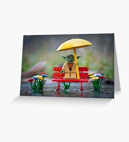 Wet, Yoda Is. Greeting Card
