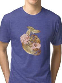 Gold Heart Tri-blend T-Shirt