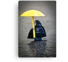 Darth in the Rain Canvas Print