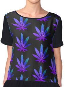 Space Weed Chiffon Top