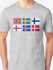 Scandinavian flags Unisex T-Shirt