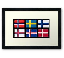 Scandinavian flags Framed Print