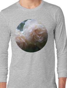 Icy White Rose Long Sleeve T-Shirt