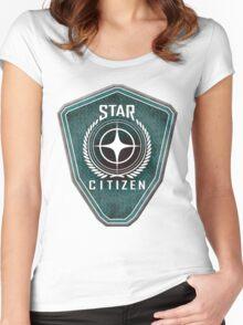 Star Citizen Logo - Green Women's Fitted Scoop T-Shirt