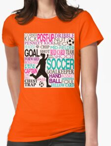 Words of football Womens Fitted T-Shirt