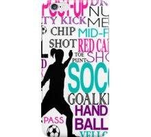 Words of football iPhone Case/Skin