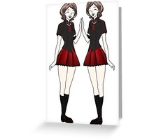 blood c twins Greeting Card