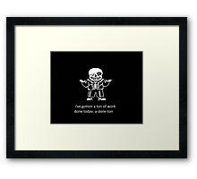 Undertale Sans  Framed Print