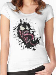 Venom •Splatter Women's Fitted Scoop T-Shirt