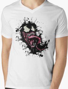 Venom •Splatter Mens V-Neck T-Shirt