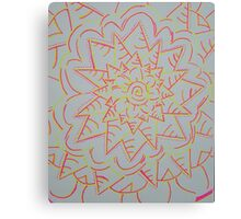 Pink and Yellow Flower Power Canvas Print