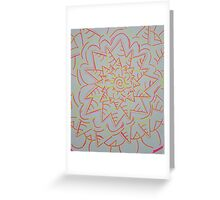 Pink and Yellow Flower Power Greeting Card