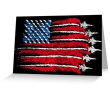 The flag of freedom Greeting Card