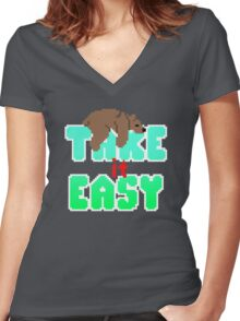 Grizzly - Take It Easy Women's Fitted V-Neck T-Shirt