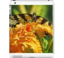 Tiger Swallowtail On Orange Day Lilly iPad Case/Skin
