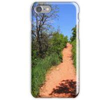 Blue Skies... Red Trail iPhone Case/Skin