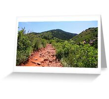 Red Trail... Green Mountain Greeting Card