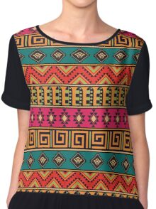 Geometric pattern in the ethnic style Chiffon Top