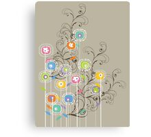 My Groovy Flower Garden Canvas Print