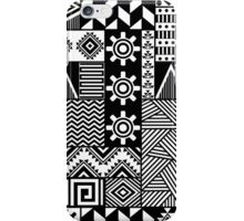 Black and white ethnic print iPhone Case/Skin