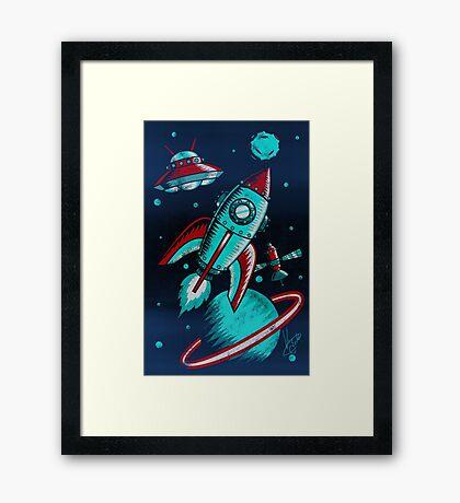Retro Space Framed Print