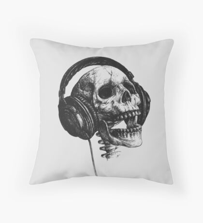 Music forever Throw Pillow